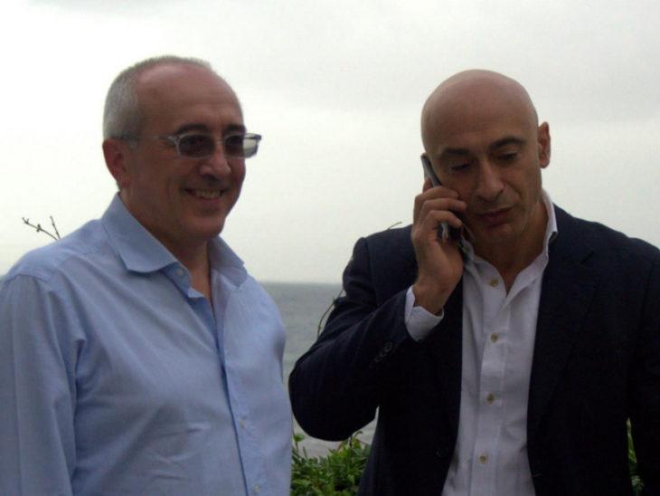 Il Sindaco Vincenzo Iaccarino in compagnia di Vincenzo Califano