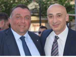 Il Sindaco Vincenzo Iaccarino e il vice-Sindaco Pasquale D'Aniello